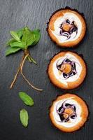 bolos de muffins de mirtilo foto