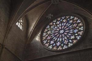 igreja de santa maria del pi. Barcelona, Espanha) foto