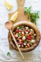 salada de grão de bico foto