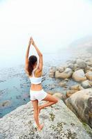 mulher de estilo de vida de ioga