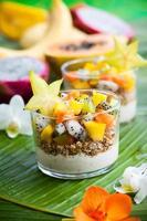 café da manhã com frutas exóticas