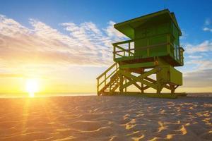 miami south beach nascer do sol foto