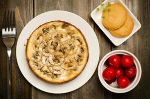 cheesecake de caramelo de banana foto