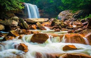cachoeiras de douglas, no rio blackwater em monongahela national f foto
