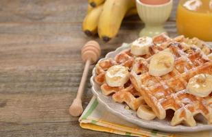 waffles com banana foto