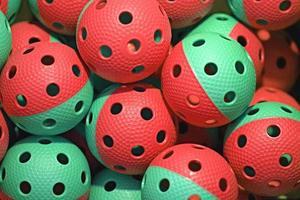 bolas de floorball foto