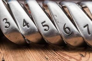 conjunto de ferros de golfe