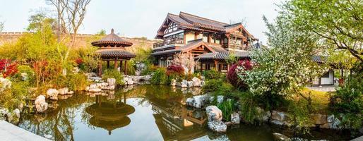 cena do parque do lago xuanwu de nanjing foto