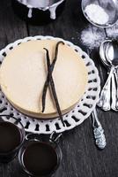 cheesecake de baunilha caseiro de nova york