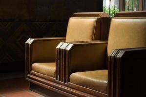 cadeiras da sala de espera foto