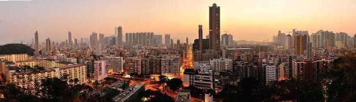 centro da cidade de hong kong foto