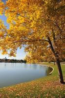 denver, colorado: parque da cidade - lago ferril foto