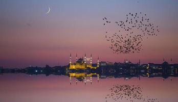 noite e istambul foto