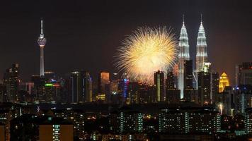 show de fogos de artifício em kl foto