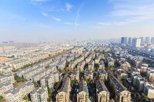 cenário urbano de áreas residenciais de hangzhou foto