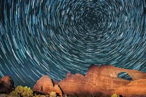 trilha estrela de arenito foto