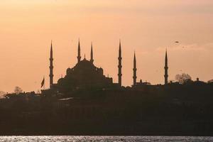 silhueta de istambul, turquia