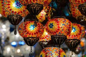 lanternas de mosaico turco tradicional