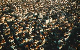 casa de Istambul com aeronaves aéreas foto