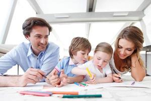 fotos de desenho de família