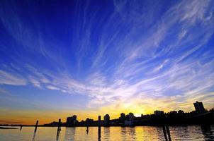 brilho do pôr-do-sol