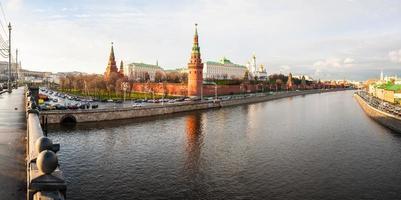 centro da capital russa moscovo kremlin castelo foto