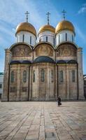 a catedral da dormição em moscou kremlin, rússia