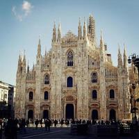 catedral de Milão (duomo di milano) - filtro retro. foto