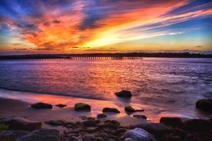 pôr do sol winchester bay foto