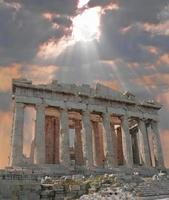 sunburst sobre a acrópole