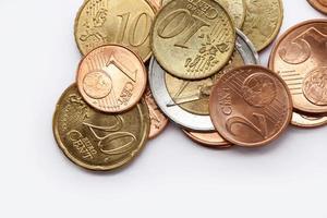 dinheiro - moedas em euros