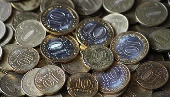 moedas russas foto
