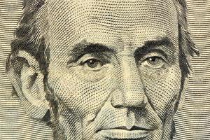 nota de cinco dólares foto