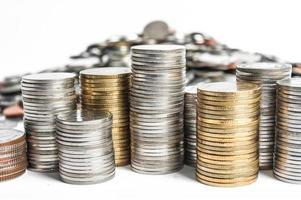 pilhas de moedas foto