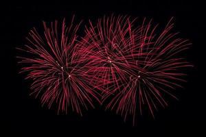fogos de artifício vermelhos foto