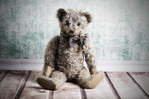 urso de pelúcia vintage foto