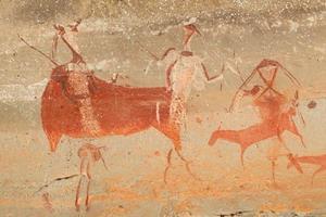 pintura de rocha de bosquímanos foto
