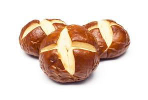 pão pretzel foto