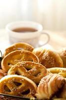 café da manhã e café foto