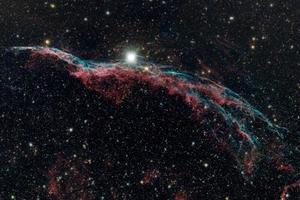 a nebulosa do véu ngc6960 (a vassoura de bruxa) foto