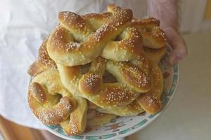 pretzels macios de filadélfia foto