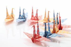 pássaros de origami foto