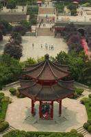 vista na praça do grande pagode de ganso selvagem