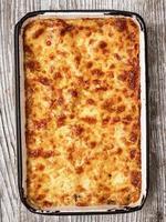 lasanha cozida italiana rústica foto