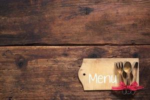 definir cartão de menu foto