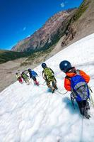 escola de alpinismo para crianças foto