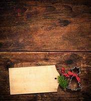 cartão de menu de natal foto