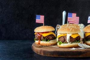 hambúrgueres de carne foto