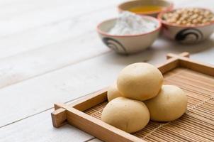 sobremesa japonesa mochi foto