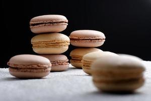 macaroons franceses originais em paris foto
